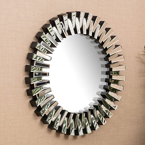 Christopher Knight Home Elaina Circular Wall Mirror, Clear