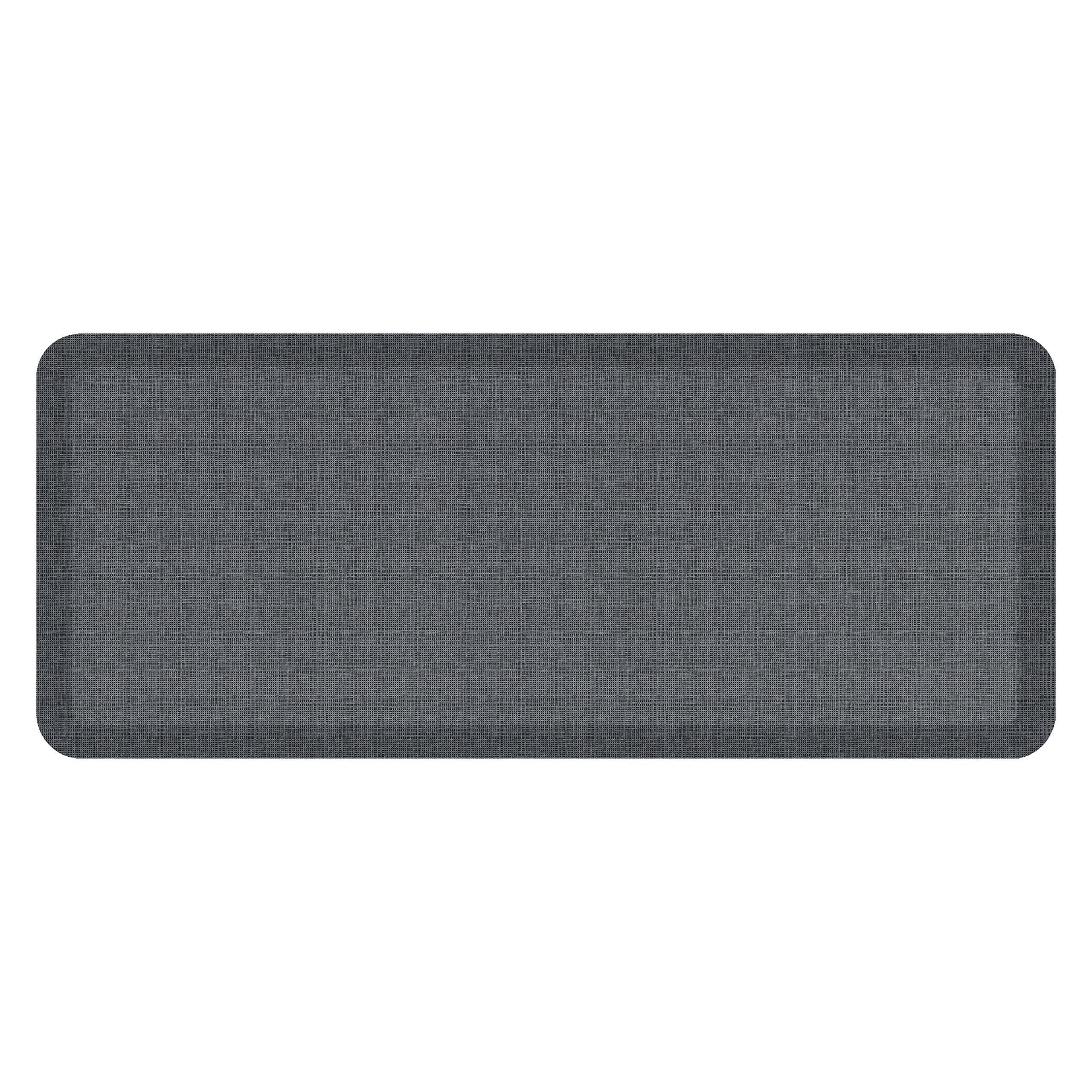 "NewLife by GelPro Anti-Fatigue Designer Comfort Kitchen Floor Mat, 20x48'', Tweed Nickel Grey Stain Resistant Surface with 3/4"" Thick Ergo-foam Core for Health and Wellness by NewLife by GelPro (Image #1)"