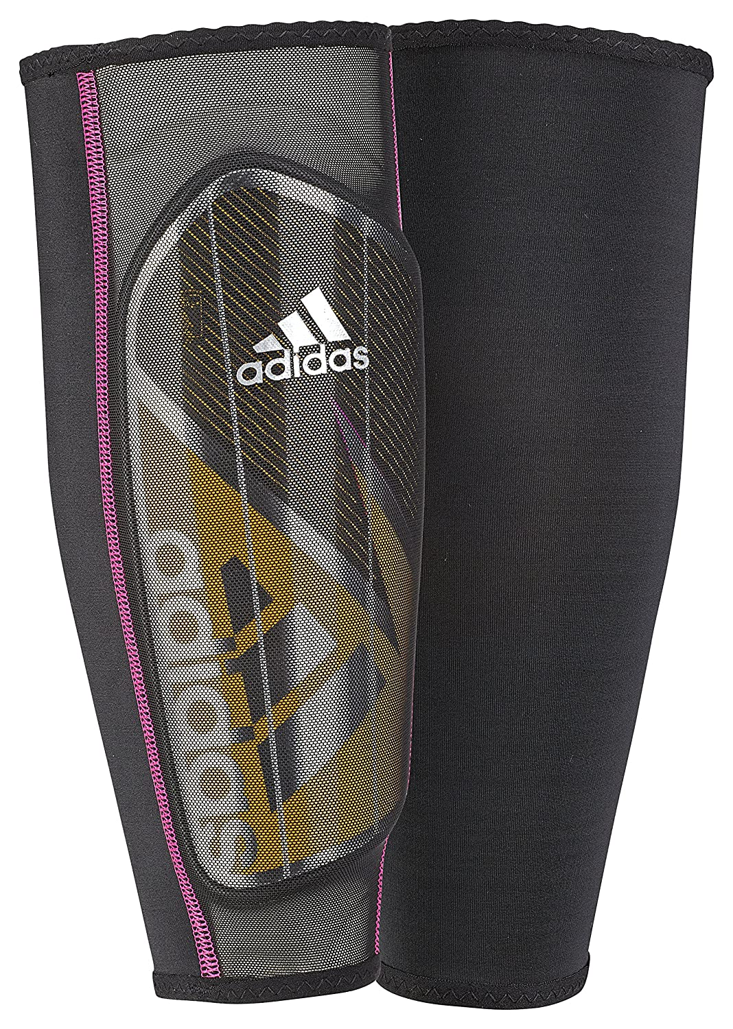 adidasゴーストプロシンガードすねあて B0105YIOSU X-Small|Solar Gold/Black/Shock Pink Solar Gold/Black/Shock Pink X-Small