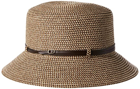 b8f06967cc5978 Nine West Women's Packable Microbrim Hat, Brown Combo One Size at ...