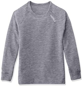 bd7a4c21e8872 Odlo - Crew Neck Warm - T-shirt - manches longues - Enfant  Amazon ...