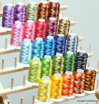 25 LARGE Cones Variegated Embroidery Machine Thread