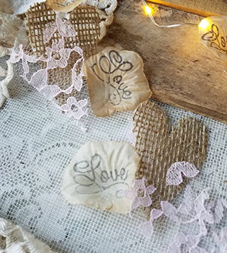 Amazon.com: Wedding Table Runner Burlap And Lace, Wedding Confetti ...