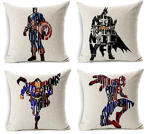 Superhéroe fundas de cojín manta decorativa fundas de ...