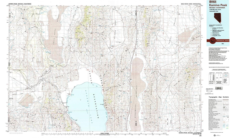 Amazon.com : YellowMaps Kumiva Peak NV topo map, 1:100000 Scale, 30 ...