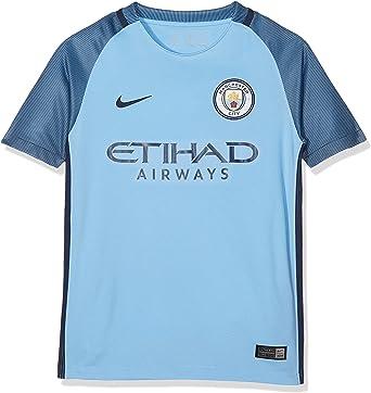 Nike Manchester City Yth Ss Hm Stadium Jsy, Camiseta de manga corta para niños