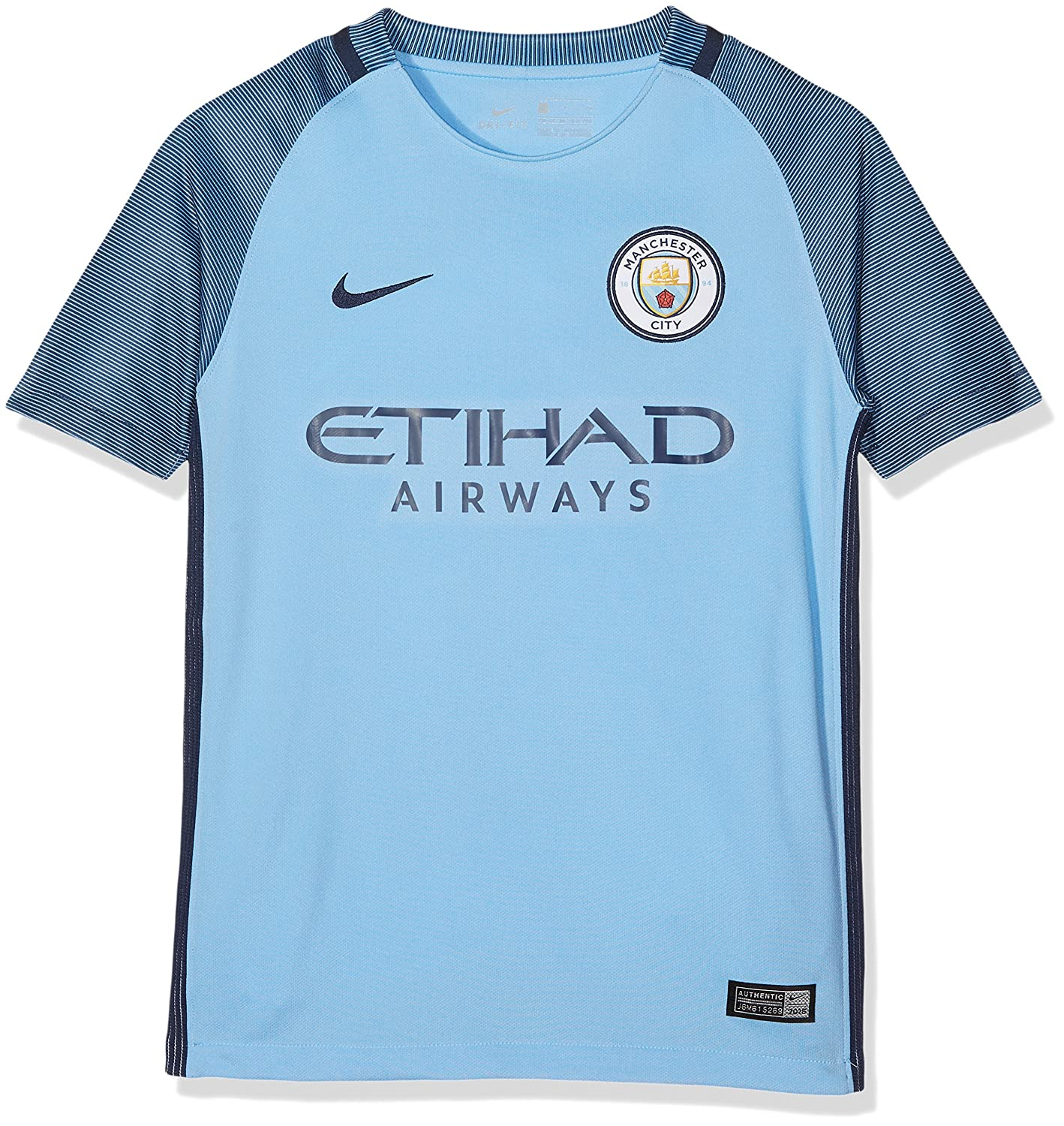 Nike Manchester City Yth Ss Hm Stadium Jsy, Camiseta de manga corta para niños, Azul (Field Blue / Midnight Navy / Midnight Navy), XS: Amazon.es: Deportes y ...