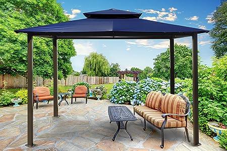 Paragon-Outdoor GZ584EN Backyard Structure Soft Top Barcelona Gazebo, 10 x 12 , Navy