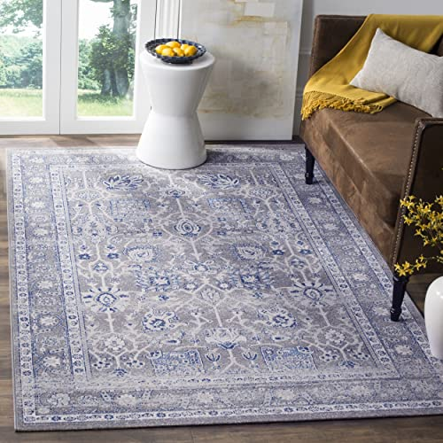 Safavieh Artisan Collection ATN326G Vintage Oriental Grey Distressed Area Rug 4 x 6