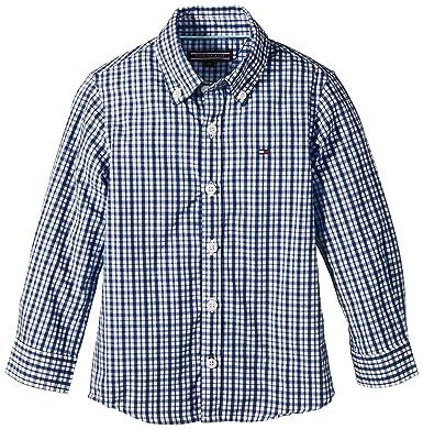 Tommy Hilfiger Jungen Hemd Austin Gingham Shirt L S, Blau (Monaco Blue- 5c20c54c21