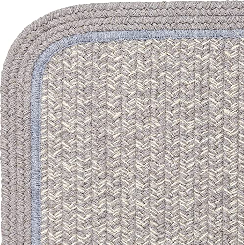 Super Area Rugs Wool Braided Casual Rug American Made Soft Textured Carpet
