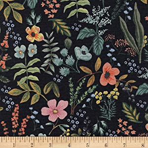 Cotton + Steel Rifle Paper Co. Canvas Amalfi Herb Garden Midnight