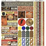 Reminisce WIZA-100 Wizard - Adhesivo decorativo para cartón, 30,4 x 30,4 cm, multicolor