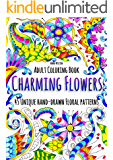 Charming Flowers: 45 Unique Hand-Drawn Floral Patterns (English Edition)