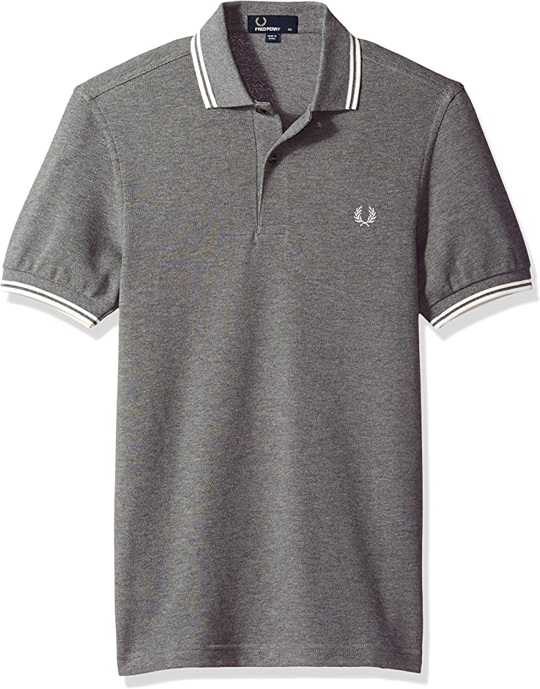 Fred Perry Fp Twin Tipped, Polo para Hombre, Multicolor (Greymrl ...