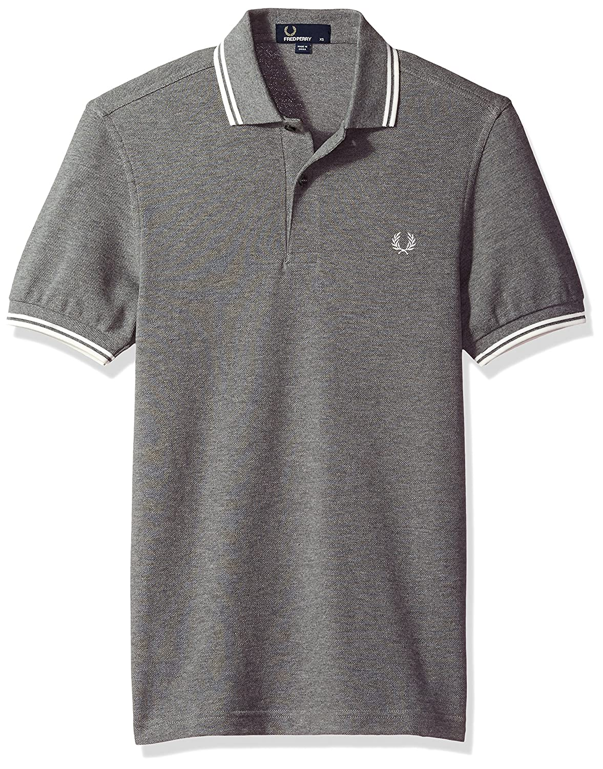 Fred Perry Fp Twin Tipped, Polo para Hombre, Multicolor (Greymrl/Snwwht), Small: Amazon.es: Ropa y accesorios