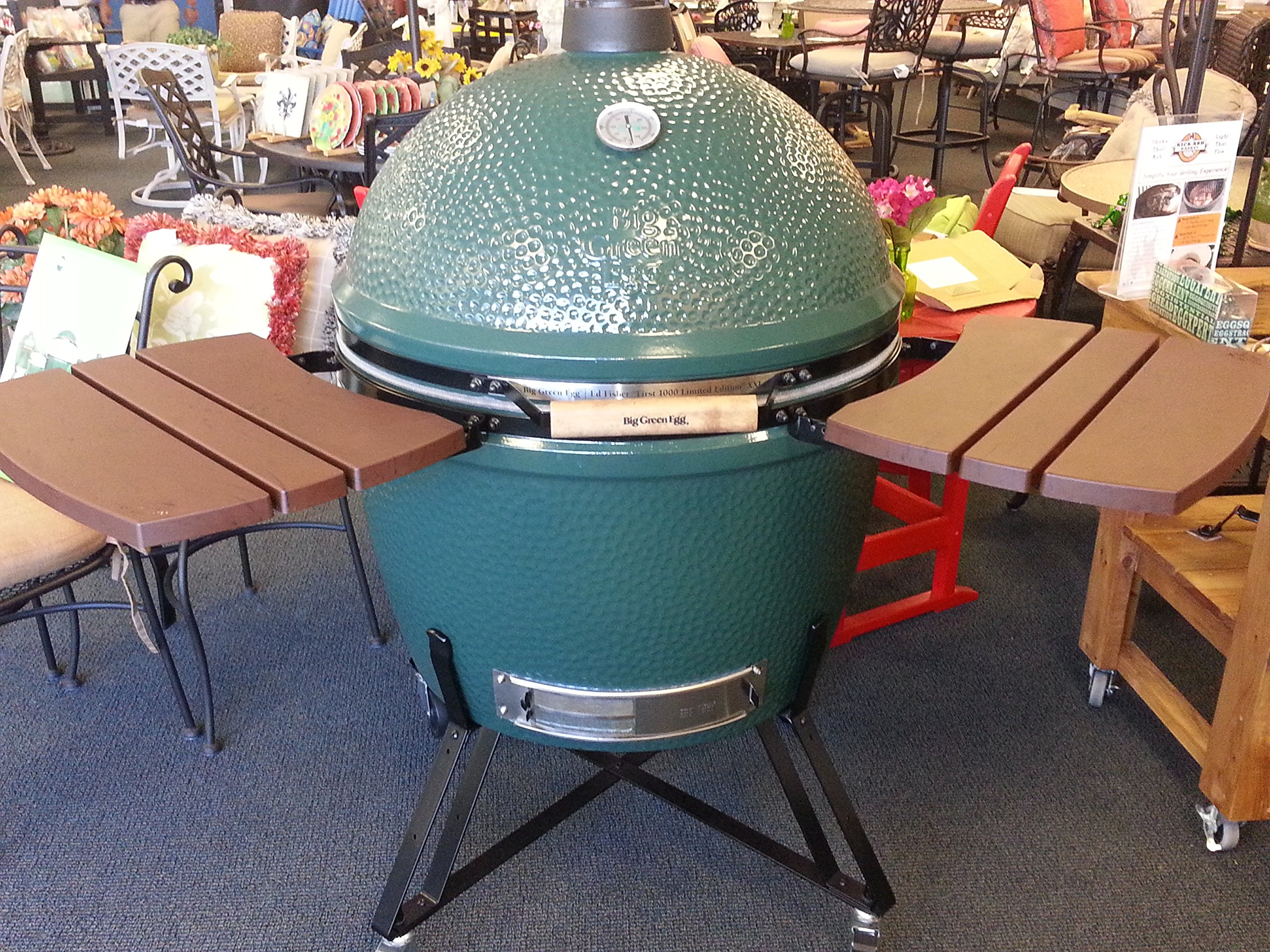 Big Green Egg Composite Shelves EGG Mates for Small to XX Large (2 shelves with three slats) Authentic Grill & Smoker Accessories, A Must For Users (X-Large)