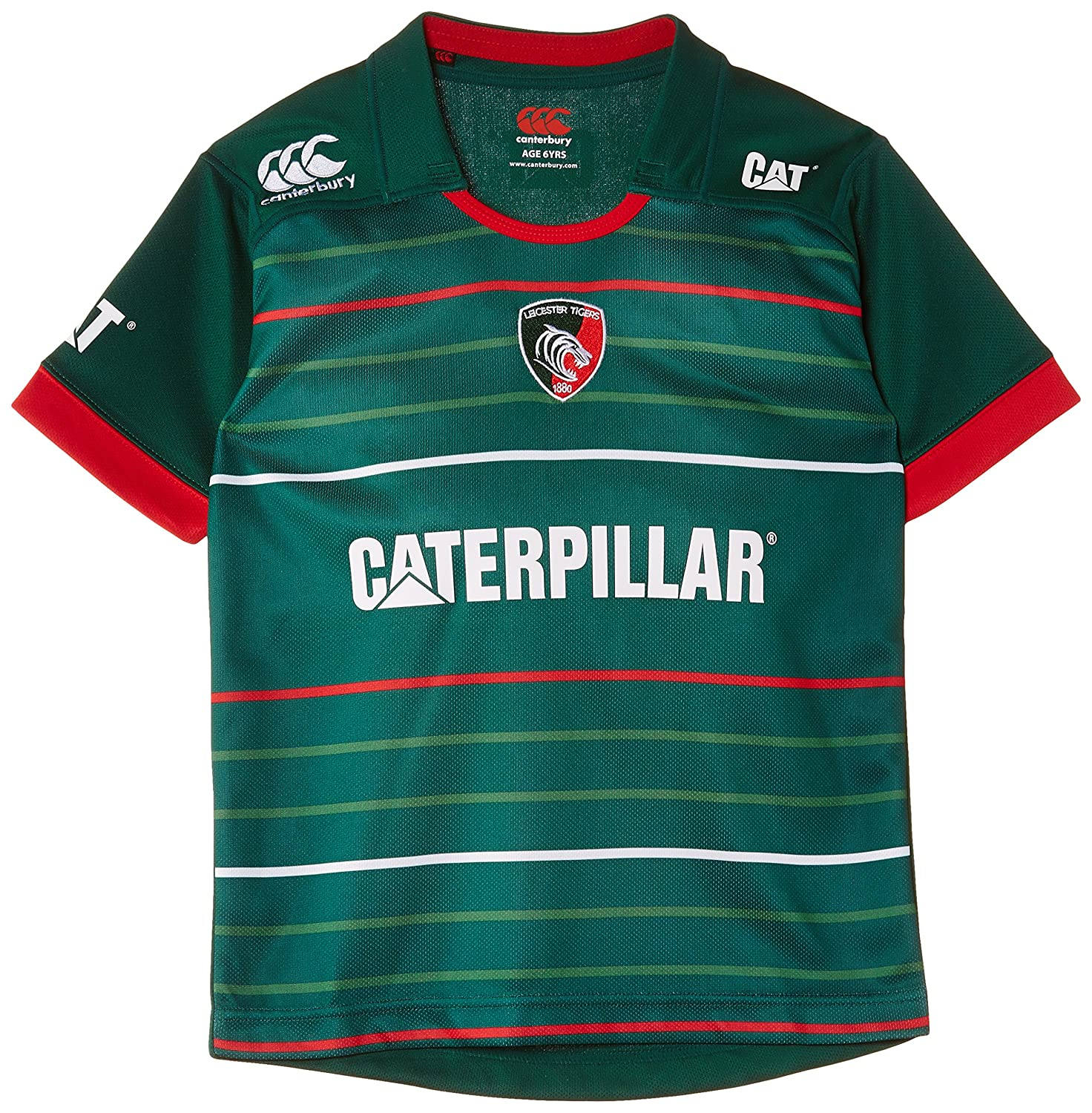2014-2015 Leicester Tigers Home Pro Rugby Shirt (Kids) Canterbury