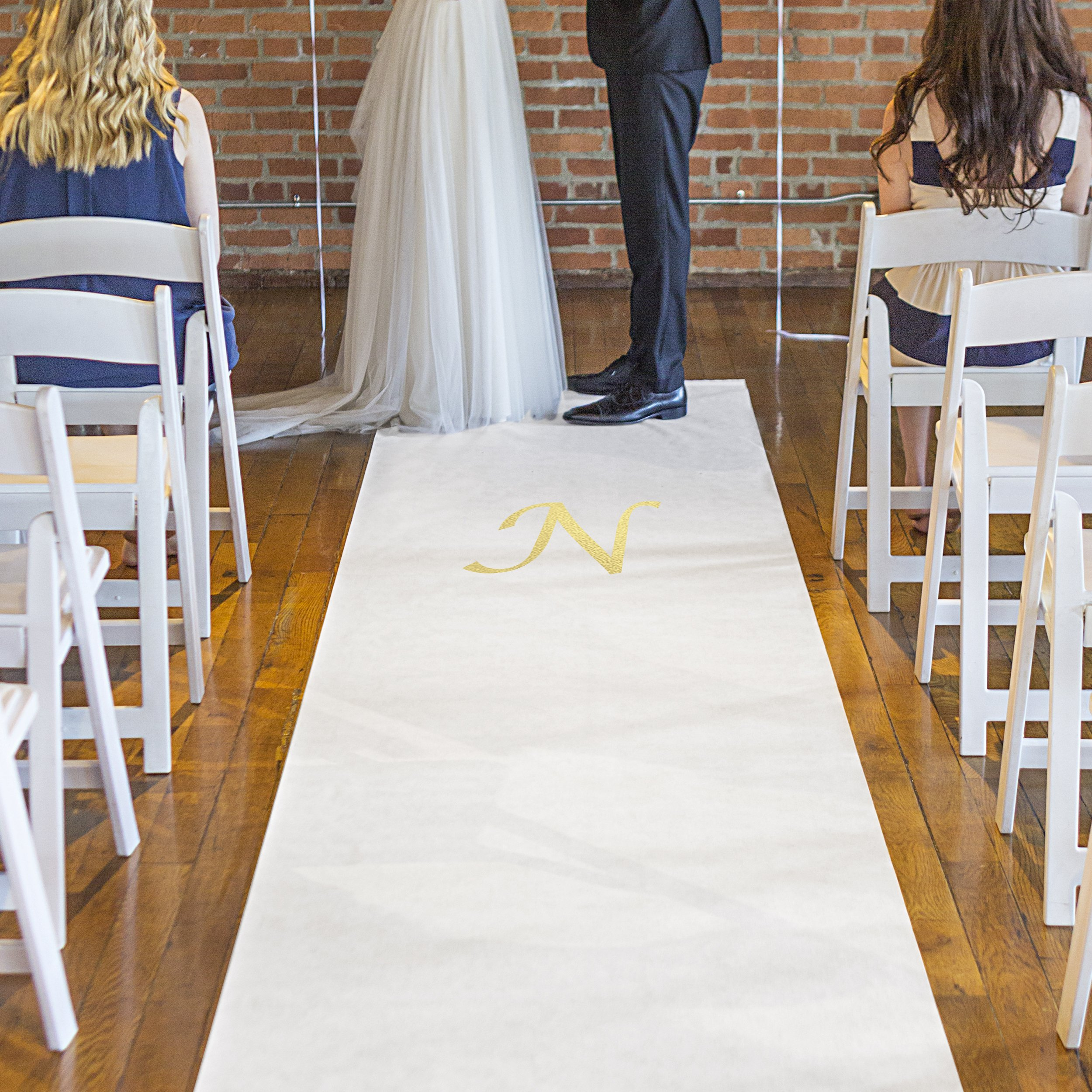 Cathy's Concepts Personalized Wedding Aisle Runner White