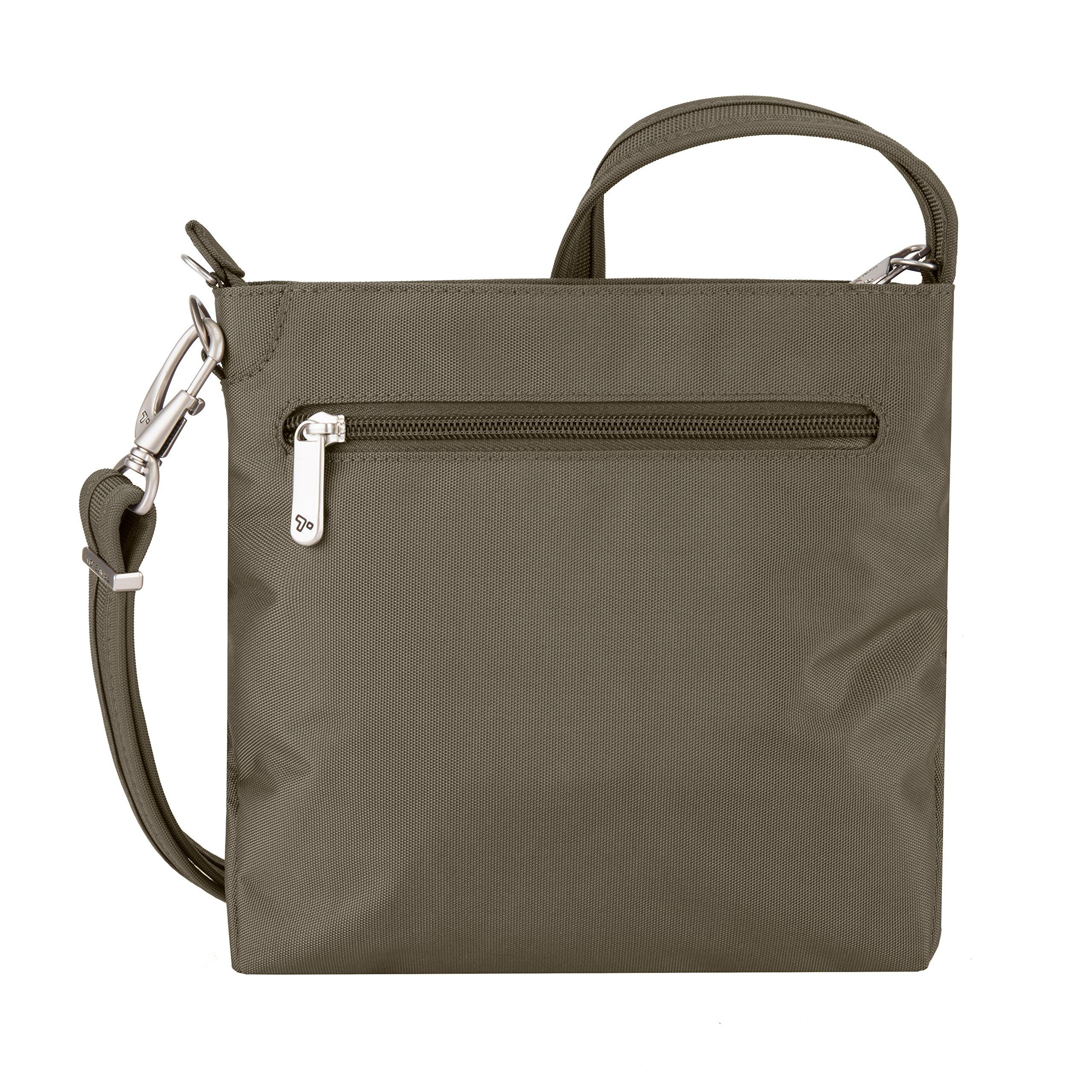 Travelon Women's Anti-theft Classic Mini Shoulder Bag Sling Tote, Nutmeg by Travelon (Image #7)