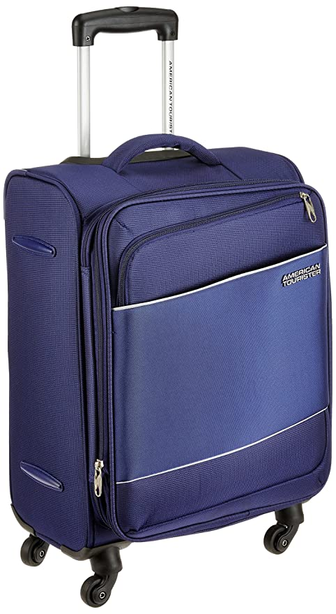 5c2194a19 Image Unavailable. Image not available for. Colour: American Tourister  Timor Polyester 55 cms Blue Softsided Cabin Luggage ...