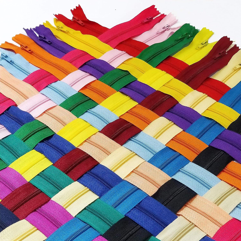 40 St/ück//Packung 23 cm KGS Rei/ßverschluss gemischte Farbe
