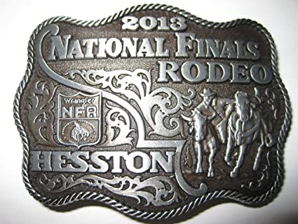"""NEW!!! 2018 Hesston National Finals Rodeo /""""Adult/"""" Belt Buckle"""