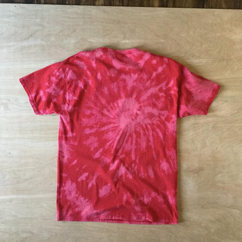 5a8d159811305 Amazon.com: Large Red Reverse Tie Dye T-shirt: Handmade