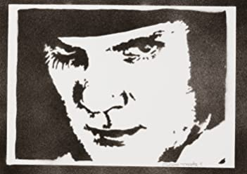 Alex A Clockwork Orange Poster Handmade Graffiti Street Art - Artwork