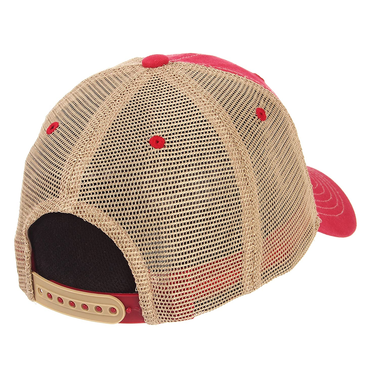 Zephyr Mens Institution Relaxed Cap Red Adjustable