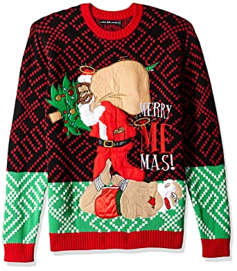 987a6b43873 Blizzard Bay Men s Merry Me-mas Ugly Christmas Sweater at Amazon Men s  Clothing store