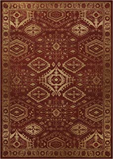 product image for Maples Rugs Georgina Traditional Area Rugs for Living Room & Bedroom [Made in USA], 7 x 10, Red/Gold