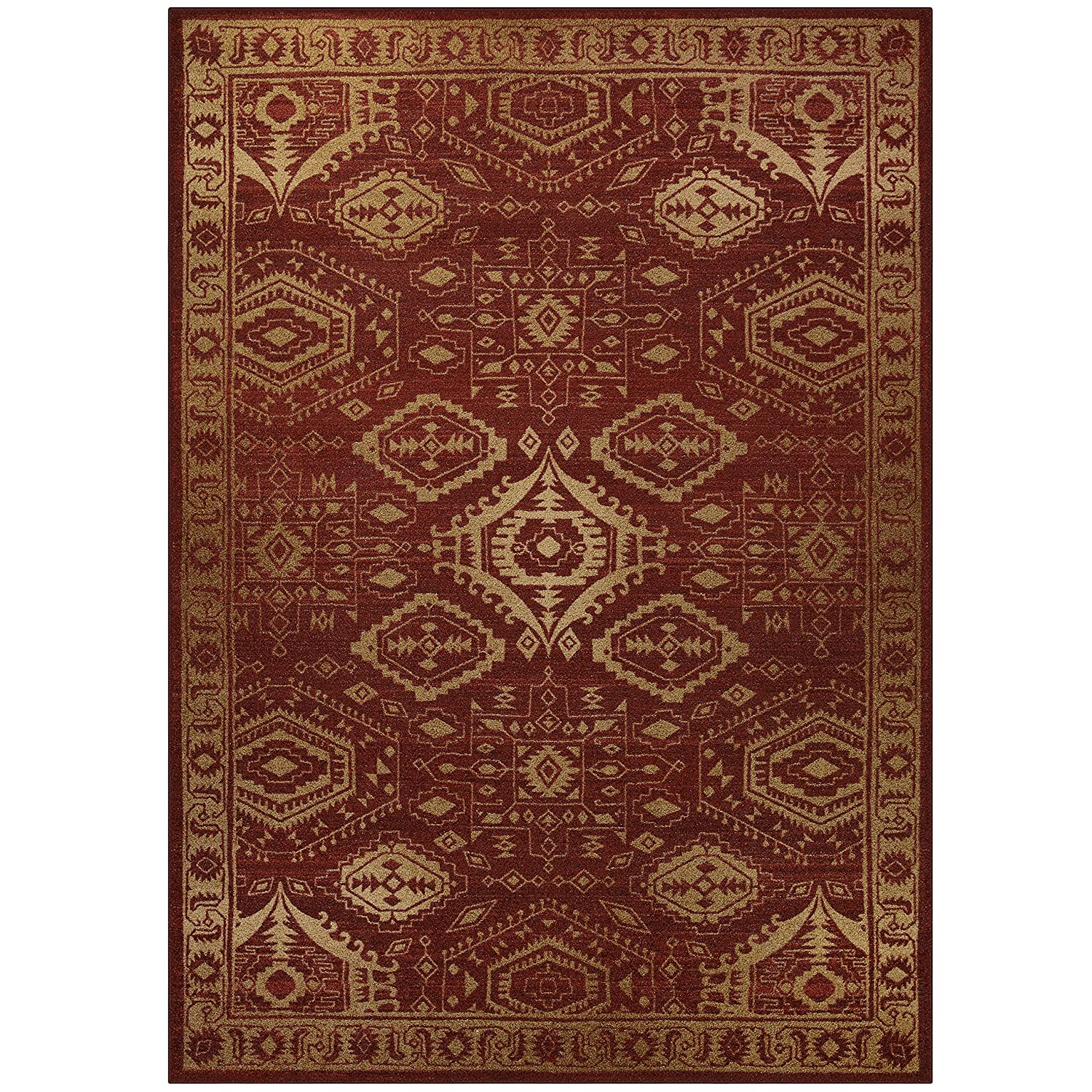 Made in USA Wineberry//Teal Kitchen Rug -Georgina Maples Rugs Kitchen Rug Georgina 18 x 210 Non Skid Small Accent Throw Rugs for Entryway and Bedroom