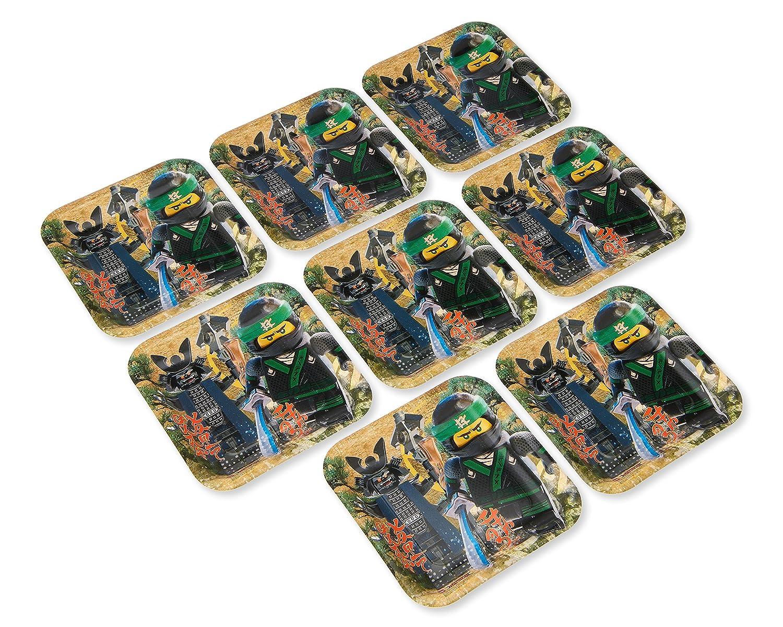 Amscan 541716 Lego Ninjago 18cm Square Plate