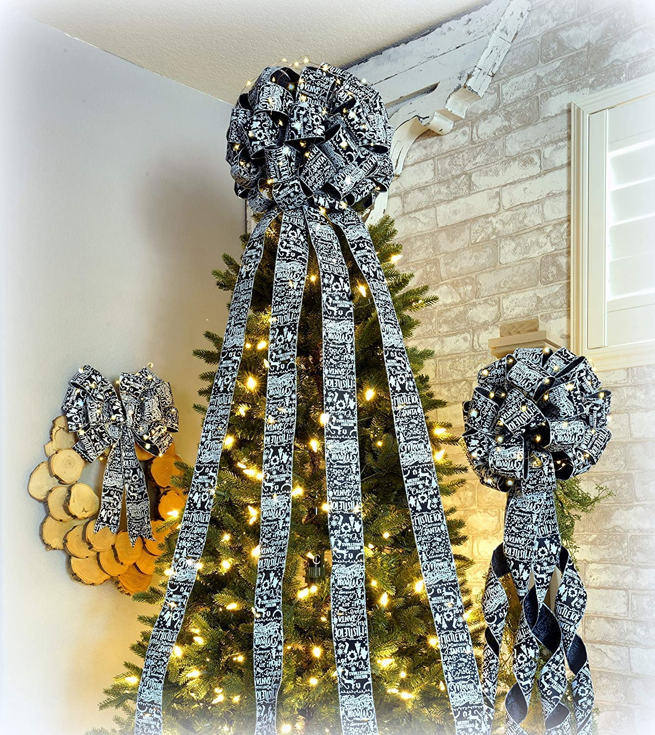 Amazon Christmas Tree Topper Bow Set