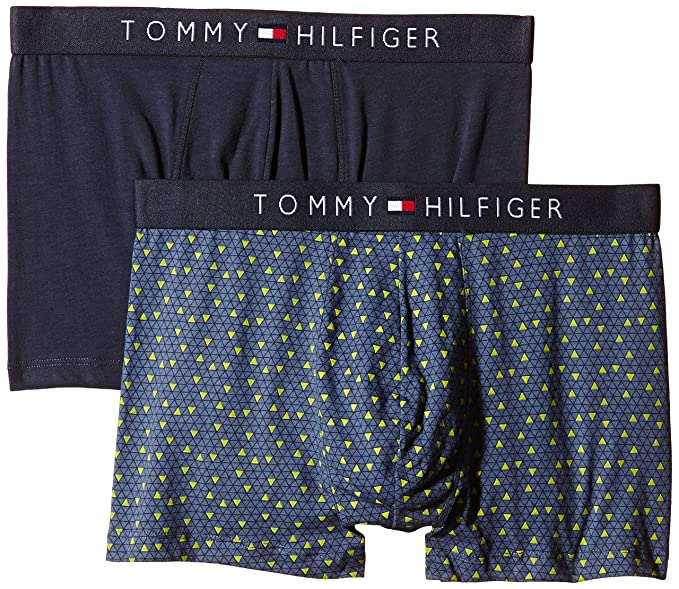 Tommy Hilfiger Flag Trunk Geo 2 Pack - Boxers para Hombre, Color Parisian Night-