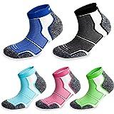 More Mile New York Lot de 5paires Chaussettes de sport/course à pied rembourrées Technologie Coolmax