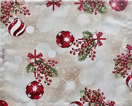 1KDreams Mantel de Navidad de Algodón. diseño Refinado y Moderno. Shabby Chic en Clave Moderna. Fabricado en Italia.: Amazon.es: Hogar