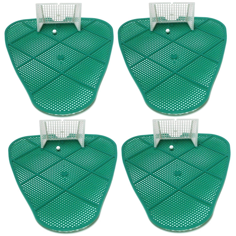 4 x Piss-Goal urinal mat football soccer goal fun, 23,5 cm x 31 cm, green with goal Mape