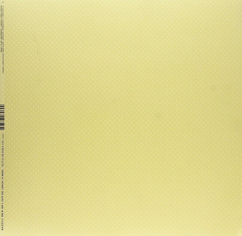 Bazzill Red/_P 25 Hojas de Papel Bazzill Basics Lienzo Textura /álbumes de Recortes