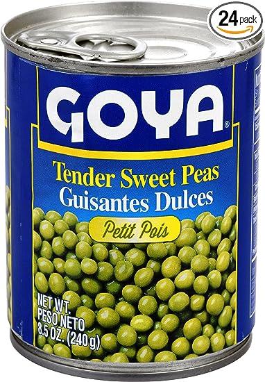 Goya Foods Tender Sweet Peas, 8.5-Ounce (Pack of 24)