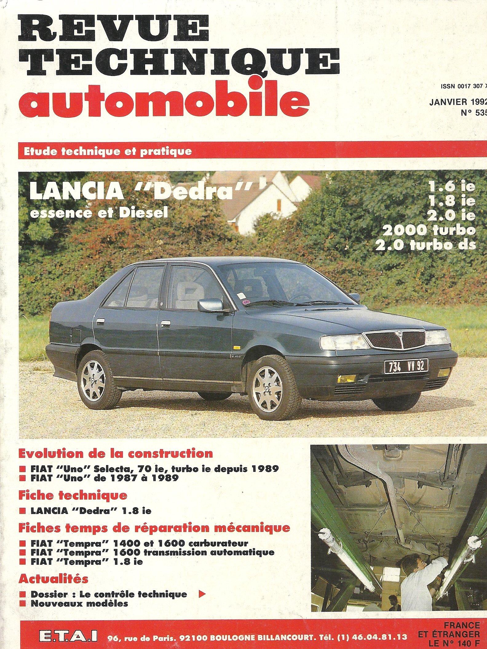 Rta 535.1 lancia dedra essence et diesel (sauf 4x4): Amazon.es: Etai: Libros en idiomas extranjeros