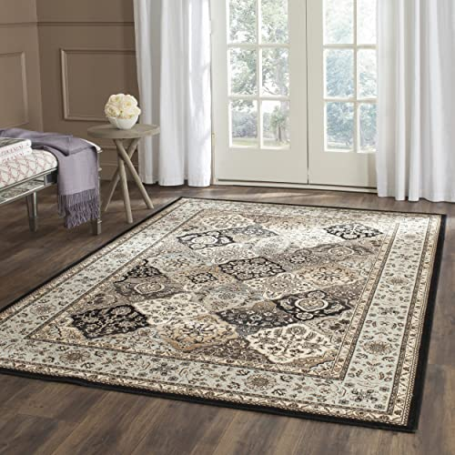 Safavieh Persian Garden Collection PEG609H Traditional Multi and Light Blue Viscose Area Rug 8' x 11'