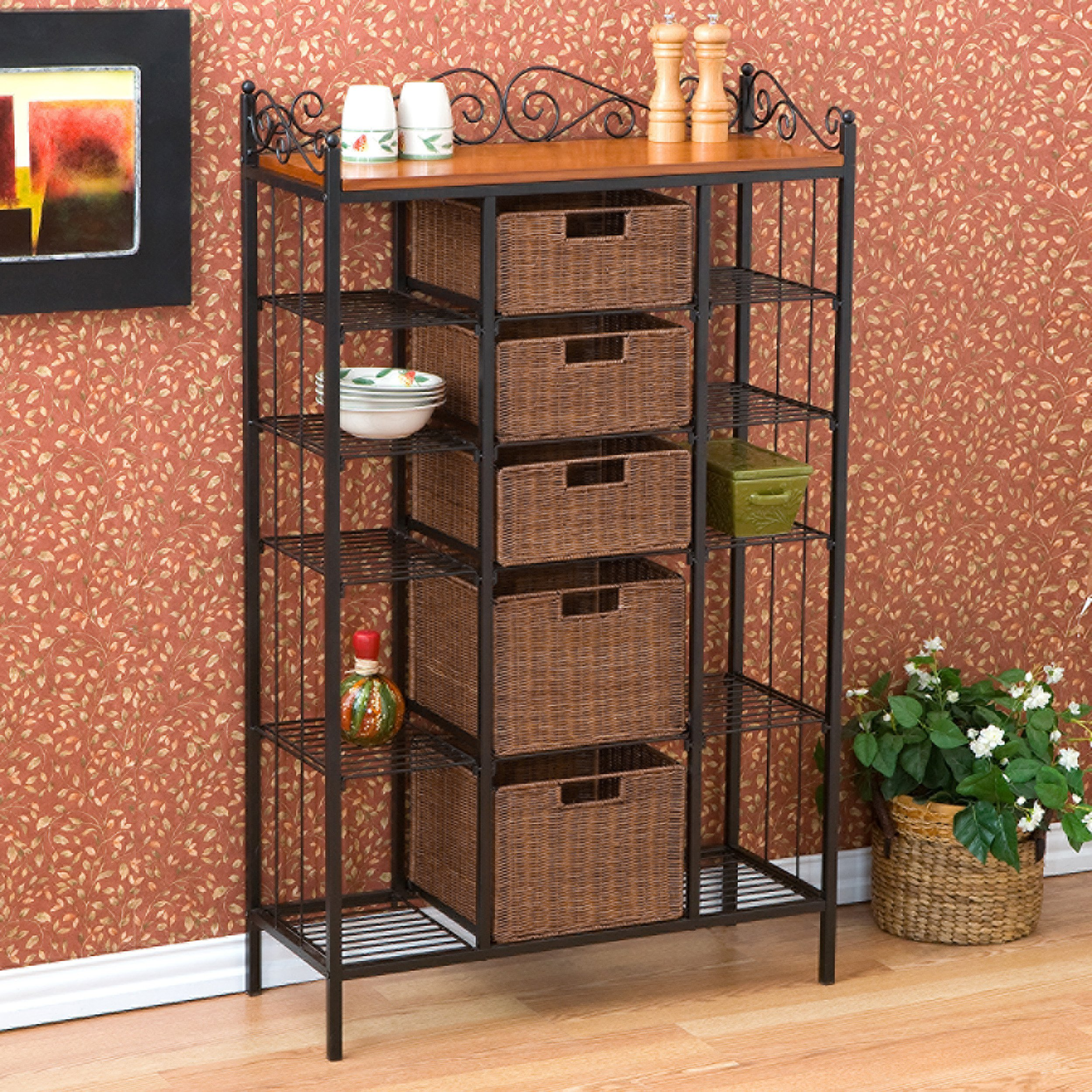 SEI Manilla 5-Drawer Baker's Rack by Southern Enterprises, Inc. (Image #5)
