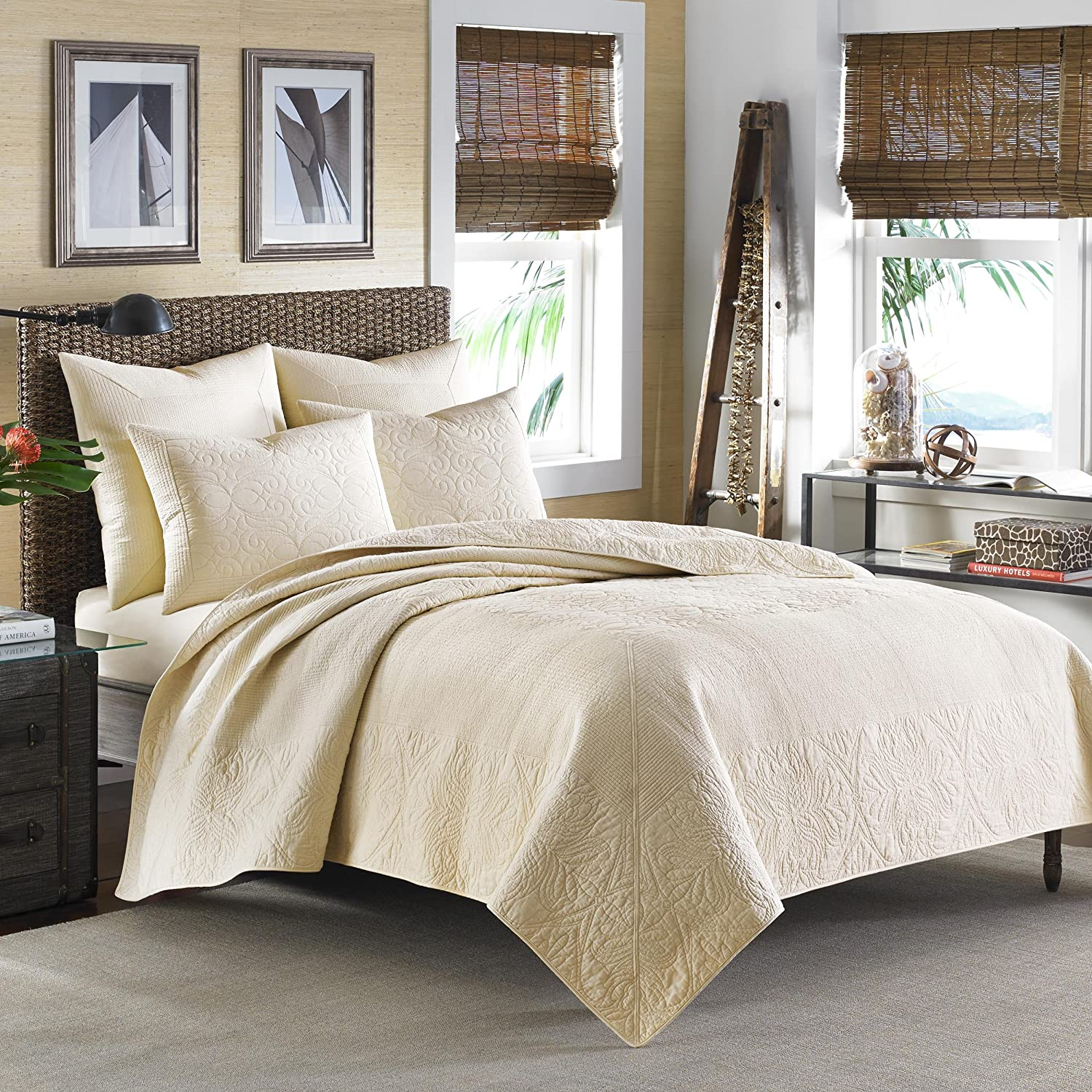 Tommy Bahama Nassau Ivory Quilt ,Full/Queen