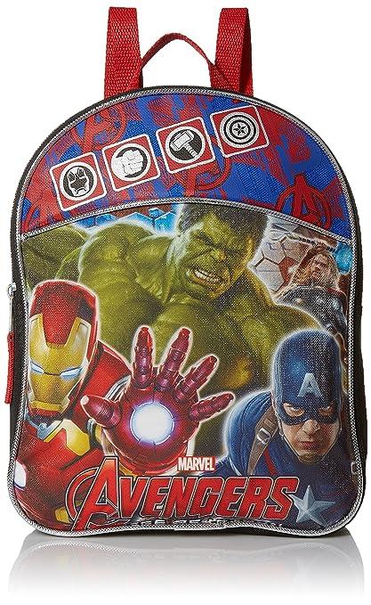 d7db53457d22c5 Amazon.com | Animewild Boys' Avengers Mini Backpack with Hulk, Ironman and  Captain, BLACK/BLUE/RED | Kids' Backpacks