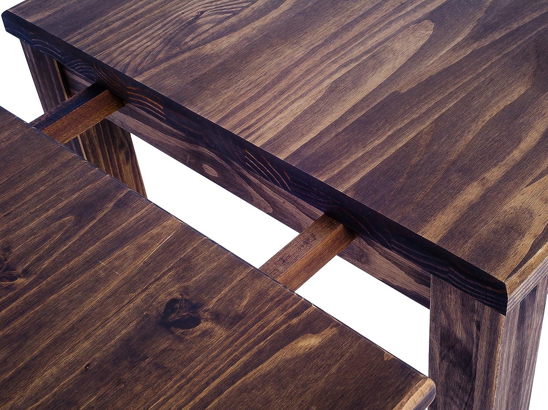 Shape Brésil Rio Manger Marron ExtendableRectangular And Pine Optional Table À Classic Meubles MassifExtensions Height130 Foncé Standard Bois b6yfg7