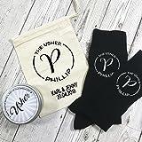 Personalizado Monogram calcetines para los Usher con lata y personalizado bolsa de regalo