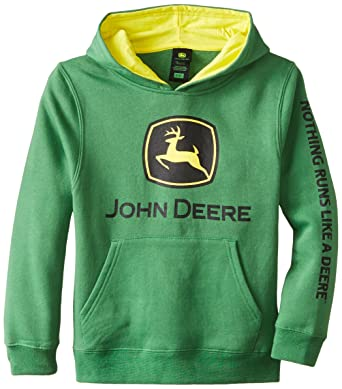 272f0d55b9 Amazon.com: John Deere Boys Trademark Fleece Green Hoodie, Small ...