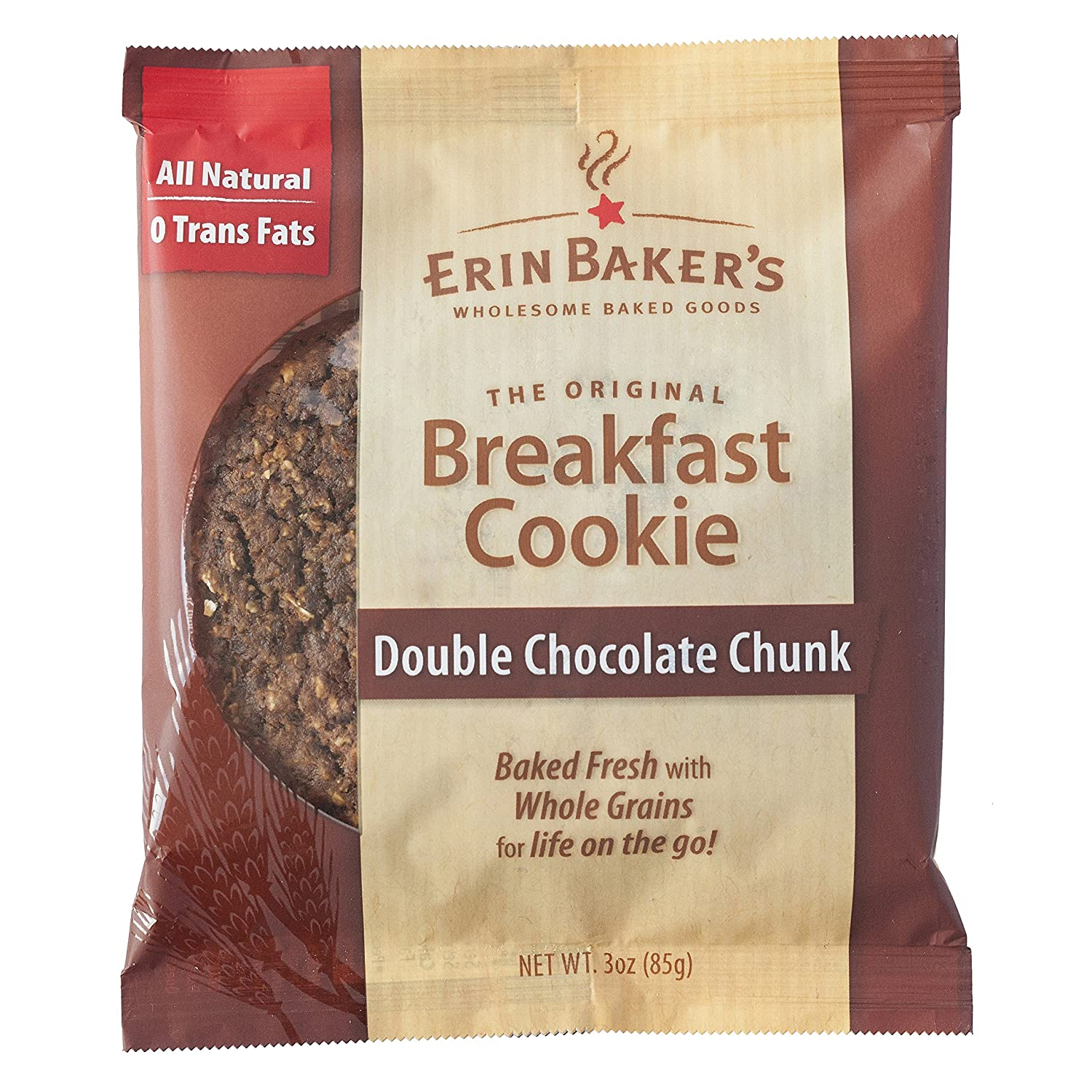 Amazon.com: Erin Baker's Breakfast Cookies, Double Chocolate, 3 ...